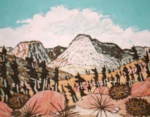 413. Santa Paula PeakTrail 7/11, Landscape Paintings by Artist Robert Wassell