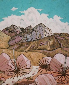 418. Hildreth Peak Trail 7/11, Landscape Paintings by Artist Robert Wassell