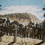 444. Santa Cruz Trail 3/12, Landscape Paintings by Artist Robert Wassell