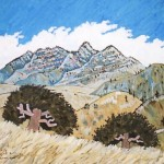 447. Sierra Madre Road 2/12, Landscape Paintings by Artist Robert Wassell