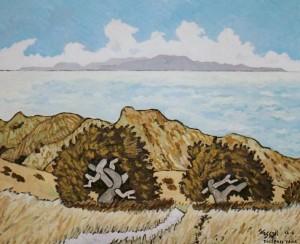 450. Trespass Trail 12/11, Landscape Paintings by Artist Robert Wassell