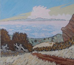 461. Trespass Trail 3/12, Landscape Paintings by Artist Robert Wassell