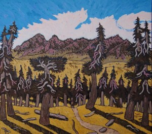 463. Sierra Madre Road 3/12, Landscape Paintings by Artist Robert Wassell