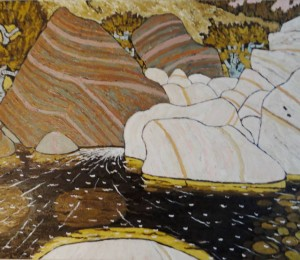 469. Sespe Trail 4/12, Landscape Paintings by Artist Robert Wassell