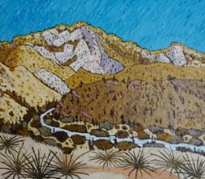 475. Sespe Trail 6/12, Landscape Paintings by Artist Robert Wassell