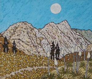 478. Red reef Trail 7/12, Landscape Paintings by Artist Robert Wassell