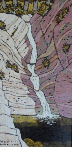 479. Seven Falls Trail 7/12, Landscape Paintings by Artist Robert Wassell