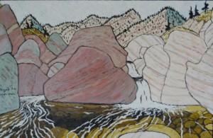 481. SespeTrail 7/12, Landscape Paintings by Artist Robert Wassell
