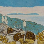 482. Mugu Peak Trail 8/12, Landscape Paintings by Artist Robert Wassell