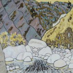 483. Sespe Trail 8/12, Landscape Paintings by Artist Robert Wassell