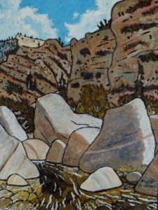 492. Sespe Trail 9/12, Landscape Paintings by Artist Robert Wassell