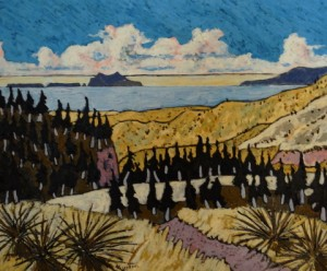 496. Last Chance Trail 11/12, Landscape Paintings by Artist Robert Wassell