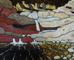 499. Tar Creek Trail 11/12, Landscape Paintings by Artist Robert Wassell