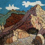 500. Red Reef Trail 10/12, Landscape Paintings by Artist Robert Wassell