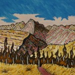 Tar Creek Trail 1/13, Landscape Paintings by Artist Robert Wassell