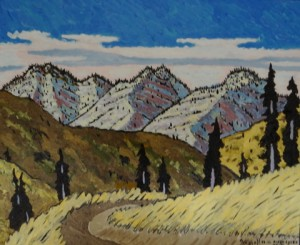 506. Alder Creek Trail 12/12, Landscape Paintings by Artist Robert Wassell