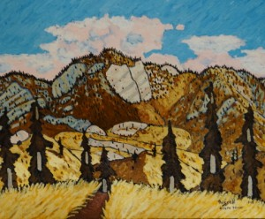 507. Sespe Trail 1/13, Landscape Paintings by Artist Robert Wassell