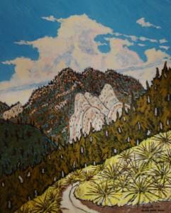 509. Alder Creek Trail 1/13, Landscape Paintings by Artist Robert Wassell