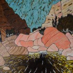 Sespe Trail 2/13, Landscape Paintings by Artist Robert Wassell