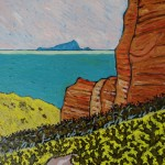 512. Backbone Trail 2/13, Landscape Paintings by Artist Robert Wassell