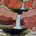 513. Tar Creek Trail 2/13, Landscape Paintings by Artist Robert Wassell