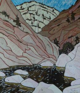 653. Sespe Trail Lower Narrows 8/15